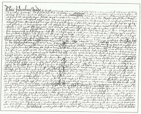 Old Indenture Document