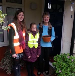 Deaf Hill School bulb planting team