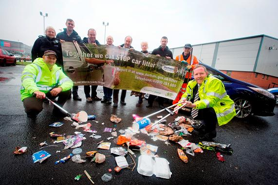 Durham County Council Driving out litter campaign