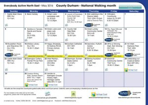 County Durham Walks May 2016