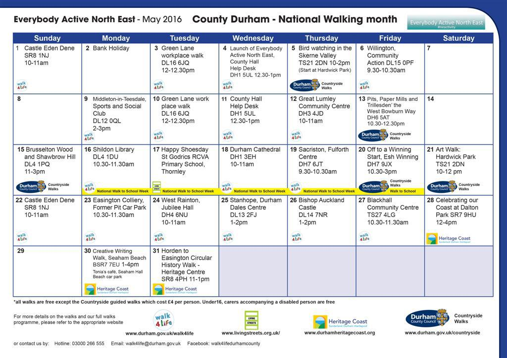 Get active with Durham County Council's month of walking - Trimdon Times
