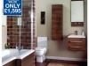 Aquatrend shower bath suite