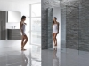 Mirrored walk in shower