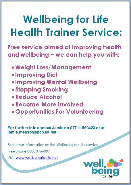 Wellbeing For Life Health Trainer Service