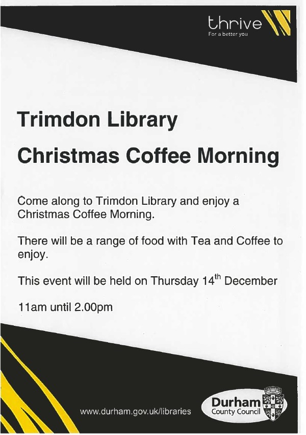 Christmas Coffee Morning at Trimdon Library