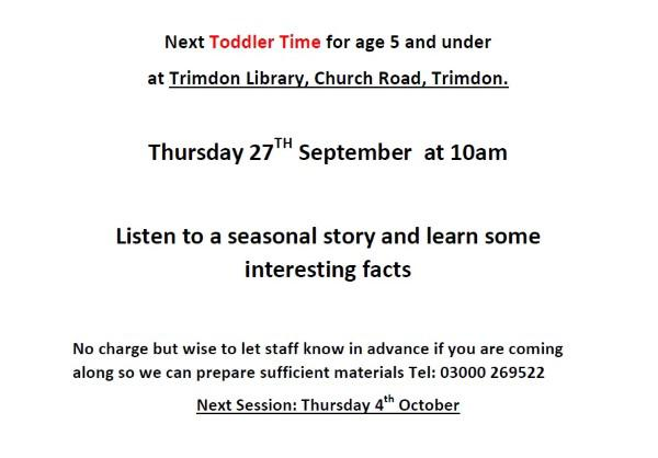 Toddle Time at Trimdon Library
