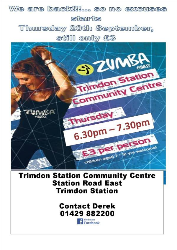 Zumba at Trimdon Station