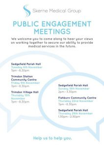 Skerne Medical Group public meetings