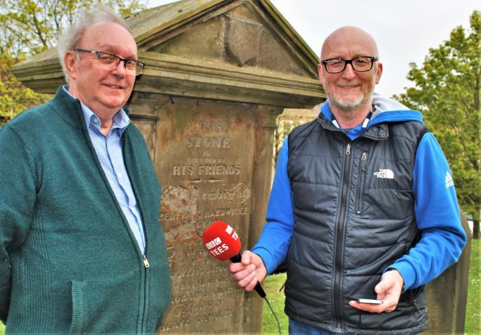BBC Radio Tees presenter Gary Philipson and churchwarden Brian Mutch