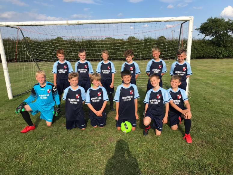 Under 11's at Trimdon would like to thank our sponsors Chic Beauty and Hair at Coxhoe for their support during the 2019/20 season