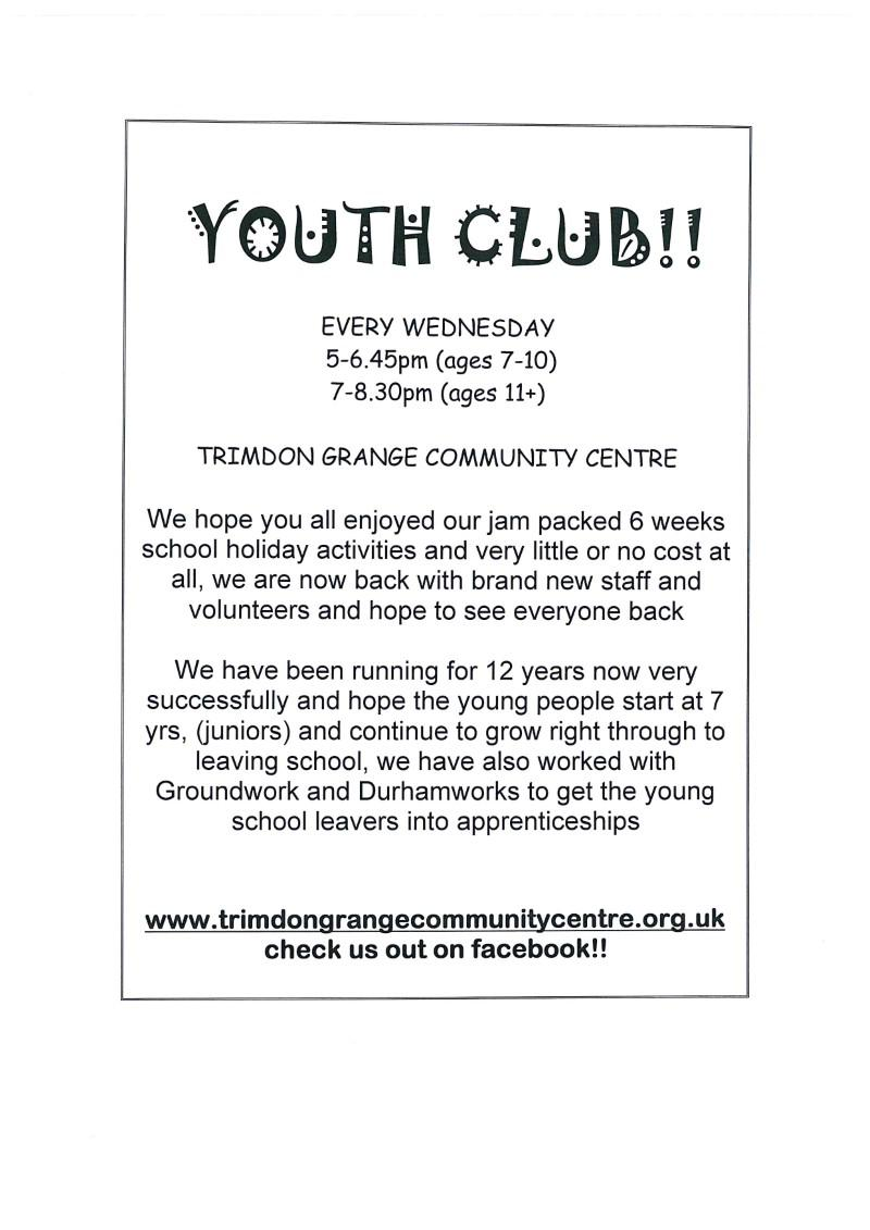 Trimdon Grange Community Centre Youth Club