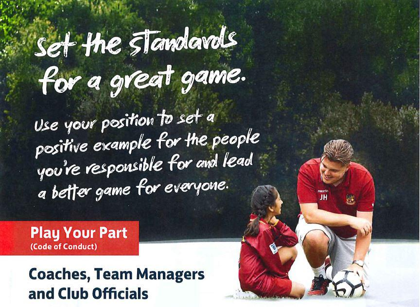 Play your part and support The FA's Code of Respect: